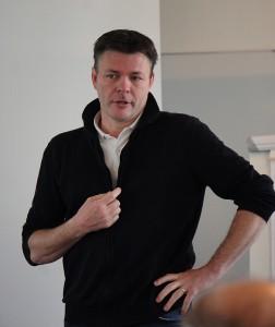 Mikael Karlsson på besök i Vara